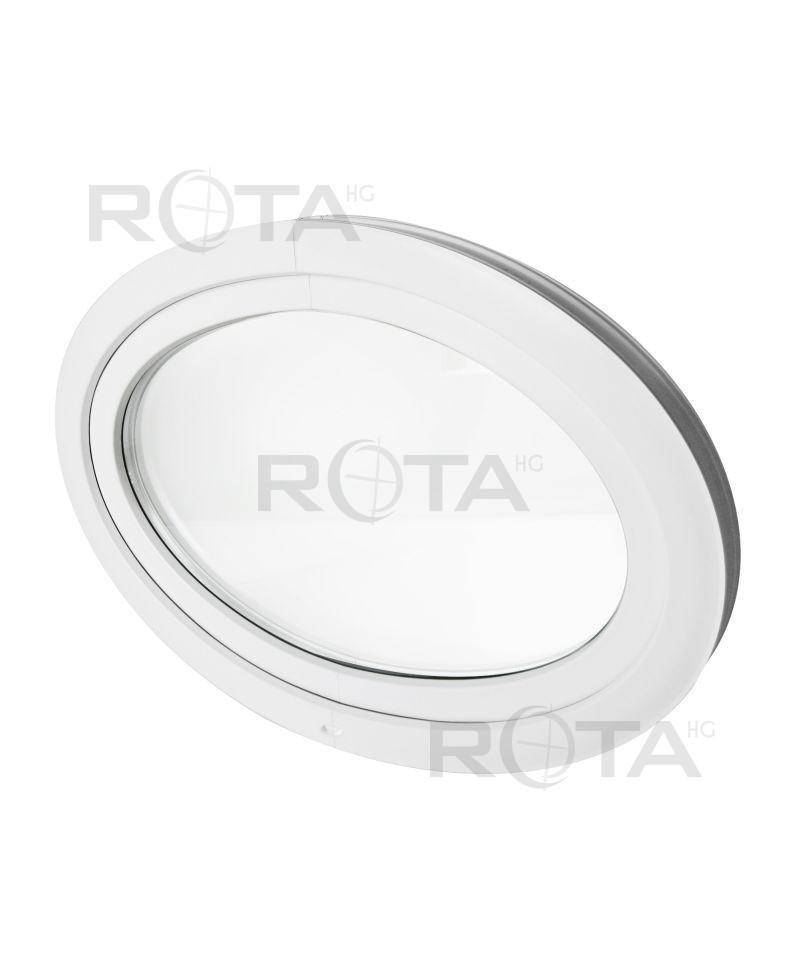 Fen tre ovale soufflet pvc blanc horizontal for Fenetre a soufflet