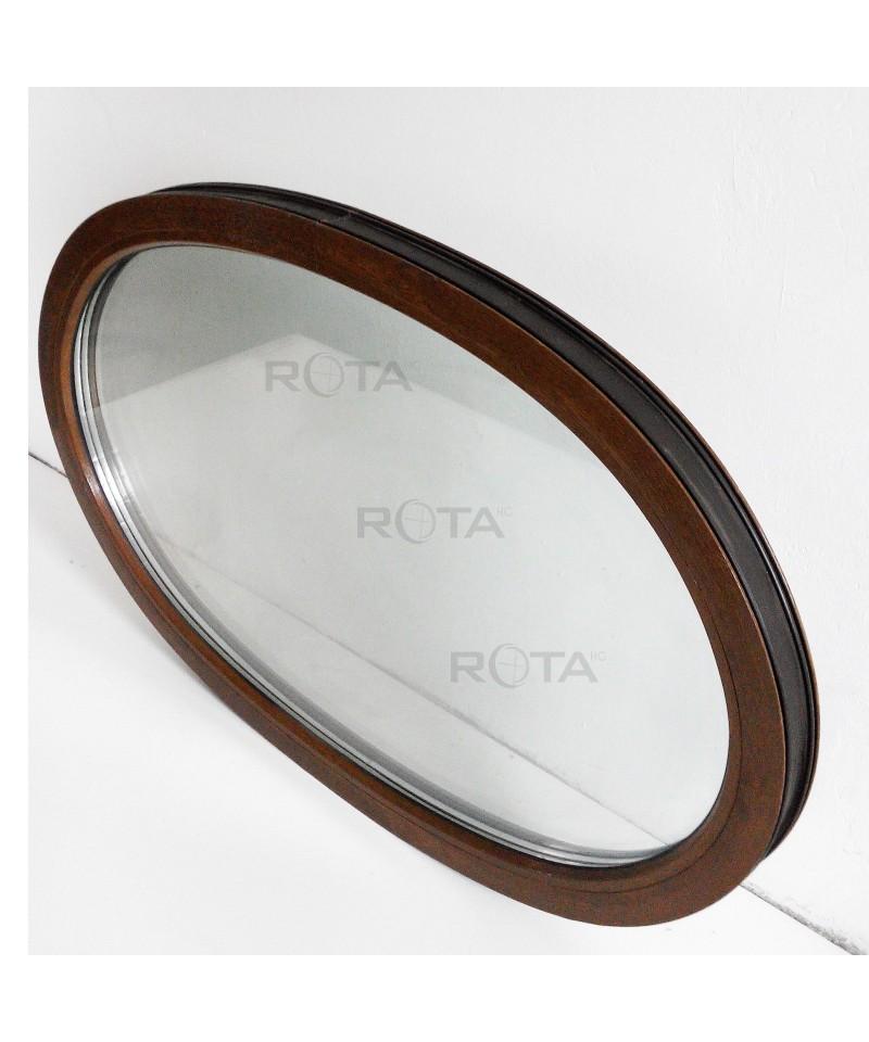 Fen tre ovale 1300x870 fixe pvc noyer for Fenetre fixe pvc