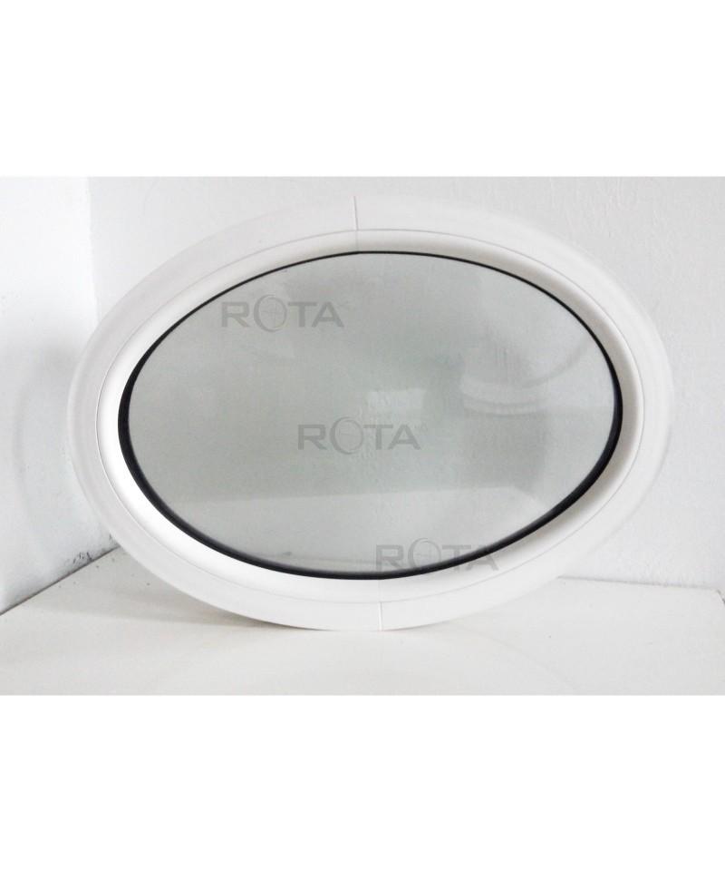 Fen tre ovale fixe 710x520 pvc blanc for Fenetre fixe pvc