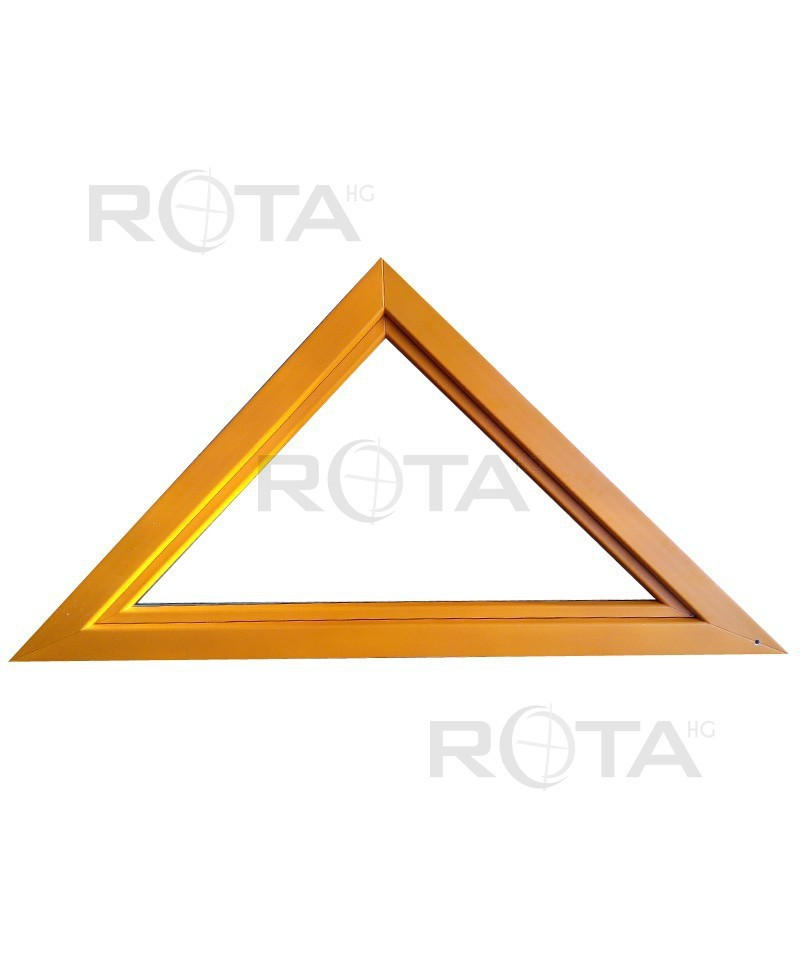 Fen tre triangulaire soufflet pvc en ral couleur for Fenetre triangle