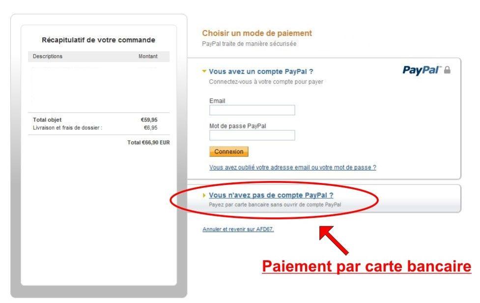 Paypal payez par carte