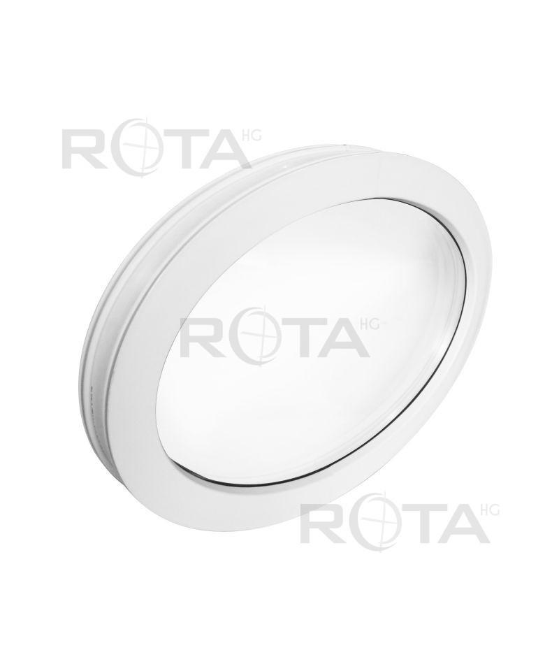 Fen tre ovale fixe pvc blanc horizontal for Fenetre fixe pvc