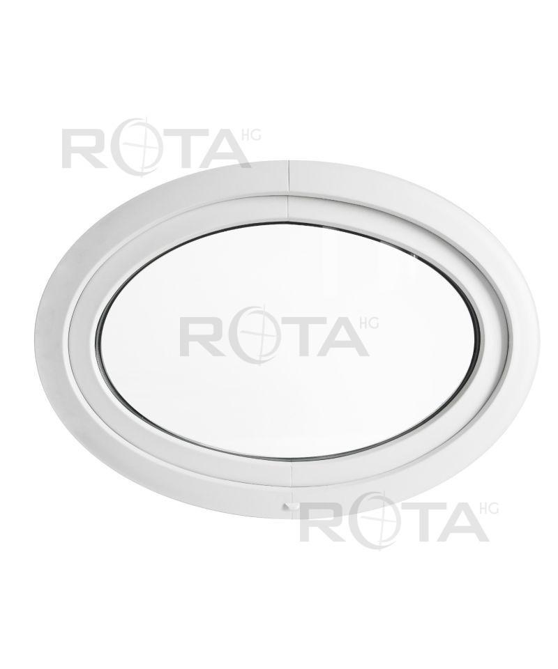fen tre ovale soufflet pvc blanc horizontal