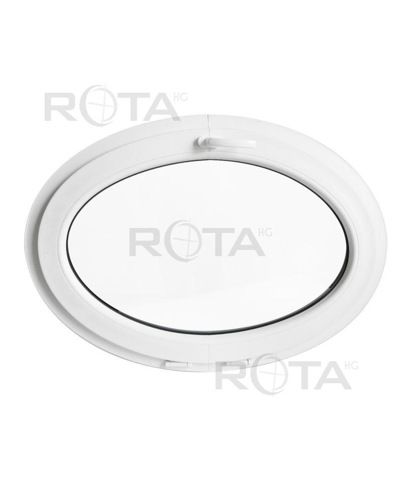 Fen tre ovale soufflet pvc blanc horizontal for Fenetre pvc blanc