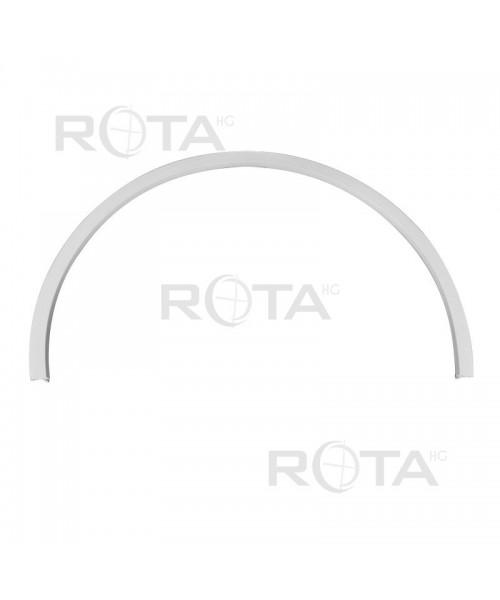 Couvre-joint PVC blanc pour fenêtres rondes ou demi-lunes