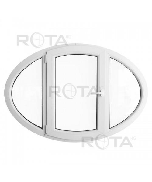 Fenêtre ovale à la française PVC Blanc