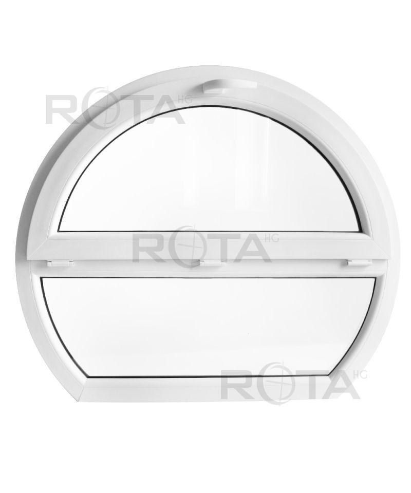 fen tre ronde fixe et soufflet 1200x1000mm pvc oeil de. Black Bedroom Furniture Sets. Home Design Ideas