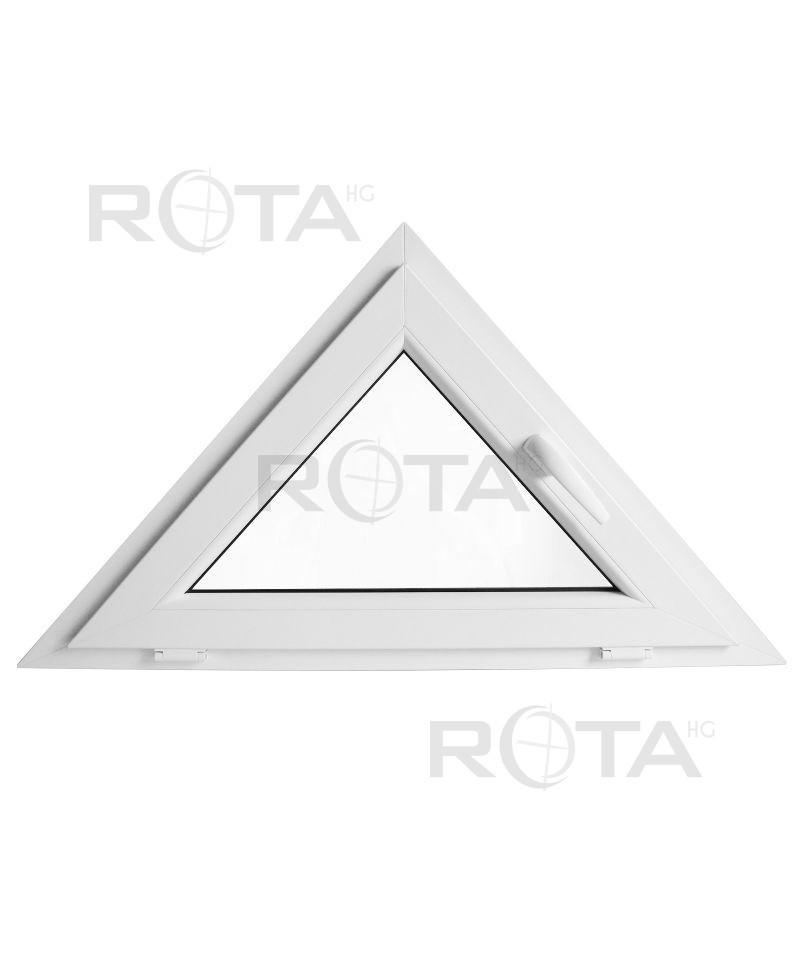 Fen tre triangulaire soufflet 1000x600mm blanc pvc houteau for Fenetre a soufflet