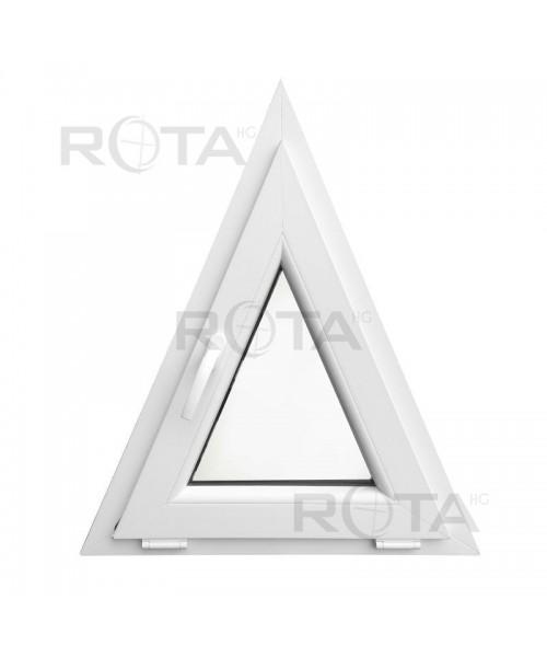 Fenêtre triangulaire à soufflet 700x850mm Blanc PVC houteau