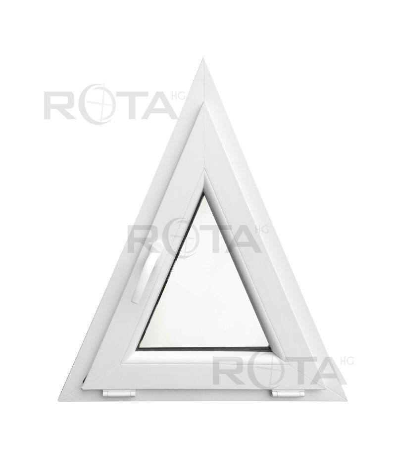 Houteau basculant 700x850mm blanc pvc lucarne triangulaire for Fenetre triangulaire
