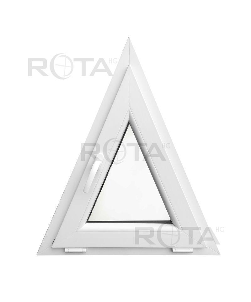 Houteau basculant 700x850mm blanc pvc lucarne triangulaire for Fenetre triangulaire