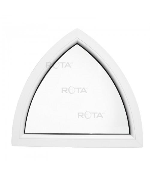 Fenêtre cintrée 900x850mm fixe PVC blanche