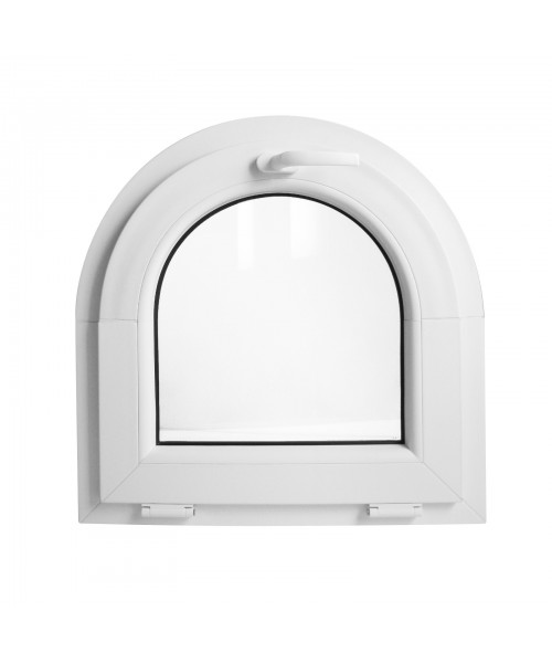 Fenêtre cintrée 500x900mm arc surbaissé PVC oscillo-battante