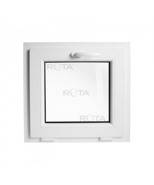 Fenêtre à soufflet 450x450mm PVC Blanche