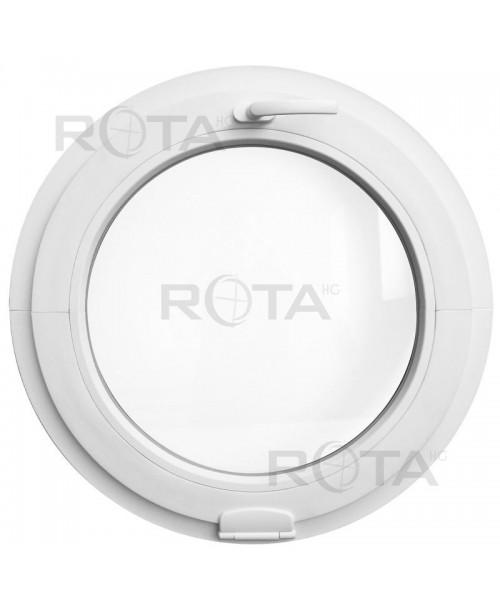 Fenêtre ronde à soufflet PVC Blanc avec Estetic3D charnières