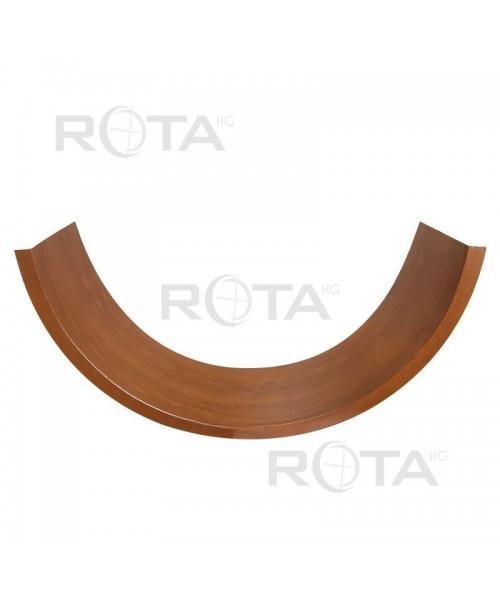 Appui en PVC couleur bois ou RAL pour fenêtre ronde ou demi-lune