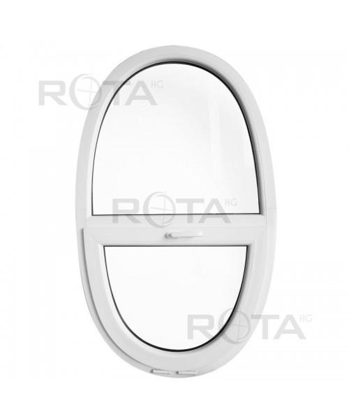 Fenêtre ovale fixe et à soufflet 900x1500mm PVC Blanche