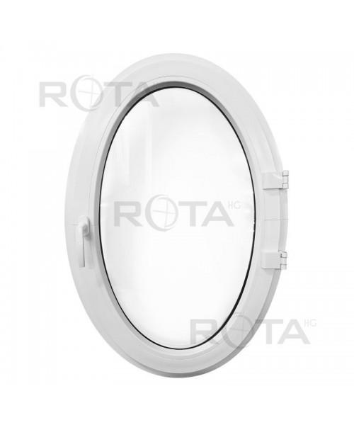 Fenêtre ovale à la française PVC Blanc (vertical)