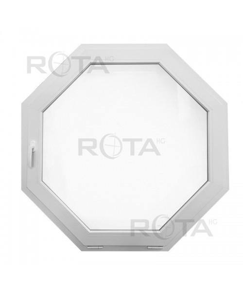 Fenêtre octagonale 1100x1100 mm à soufflet Blanc sur mesure