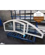 Fenêtre cintrée 2360x750mm à la française et fixe PVC Blanc