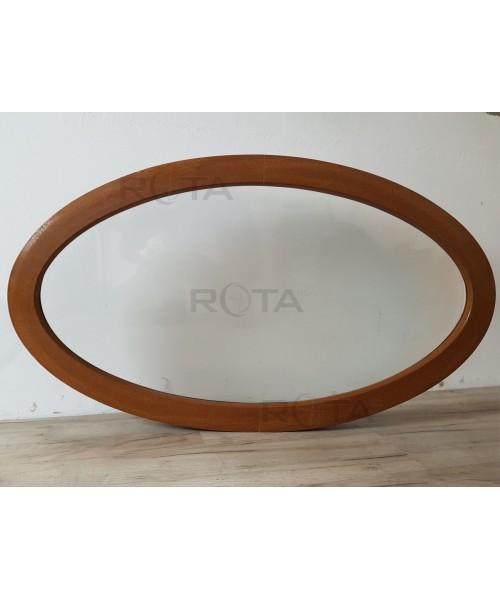 Fenêtre ovale fixe 1160x990 PVC Chêne Doré