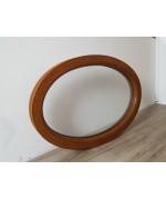 Fenêtre ovale fixe 900x625 PVC Chêne Doré