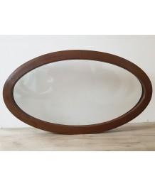 Fenêtre ovale fixe 1160x660 PVC Noyer