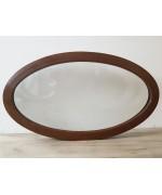 Fenêtre ovale fixe 1160x990 PVC Noyer