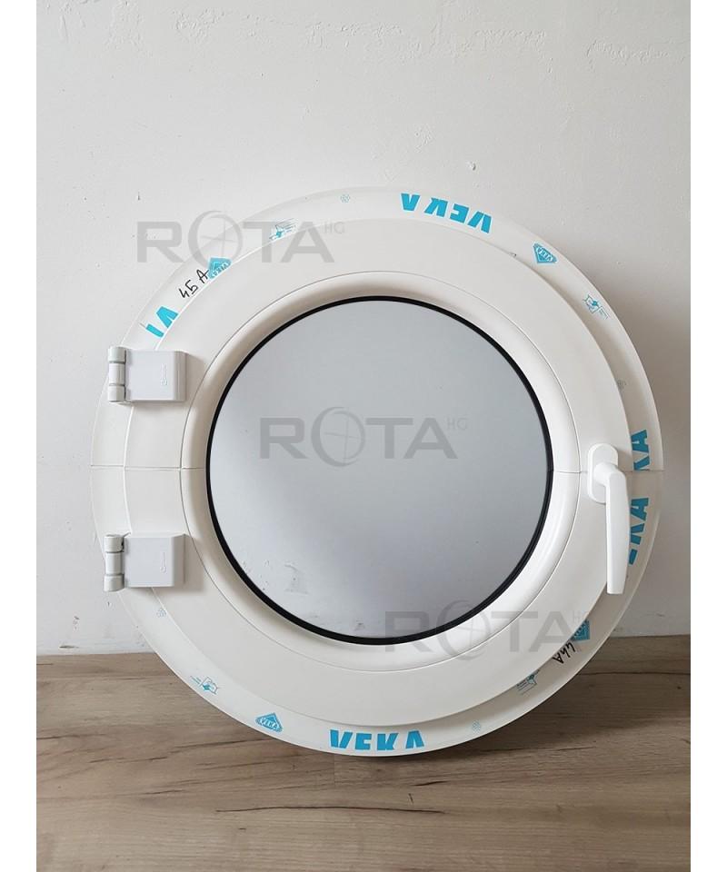 fen tre ronde la fran aise 600mm pvc ral 7016 ext blanc int. Black Bedroom Furniture Sets. Home Design Ideas