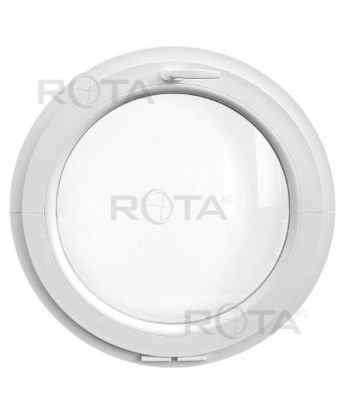 Fenêtre ronde à soufflet PVC blanc oeil de boeuf