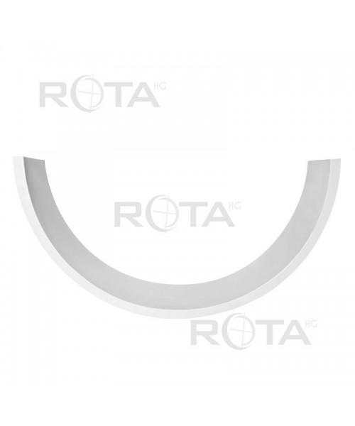 Appui en PCV blanc pour fenêtre ronde ou demi-lune