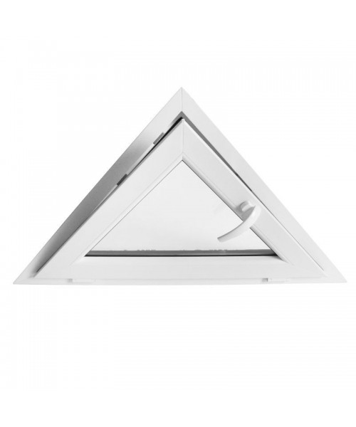 Fenêtre triangulaire à soufflet Blanc PVC houteau
