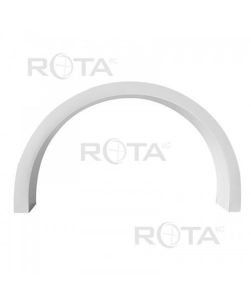 Cornière d'habillage PVC blanc pour une fenêtre ronde ou demi-lune