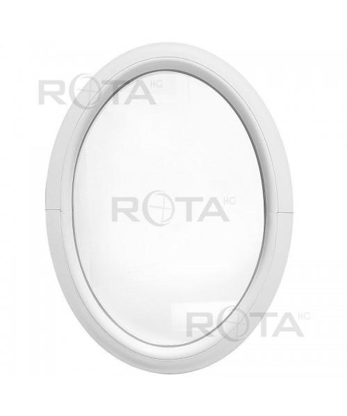 Fenêtre ovale fixe PVC blanc verticale