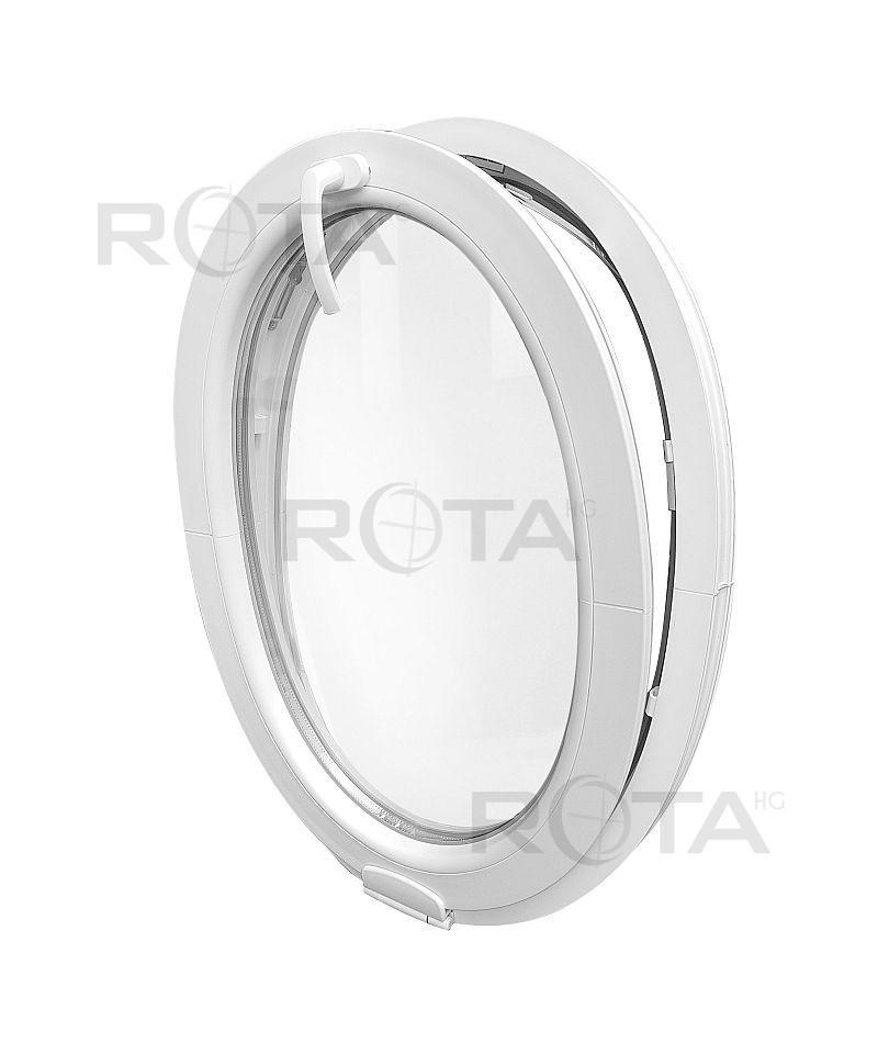 Fenêtre Ovale à Soufflet Avec Estetic 3d Charnière Pvc Blanc Vertical