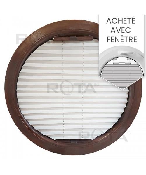 Store plissé pour une fenêtre ronde