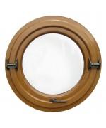 Fenêtre ronde basculante PVC en couleur
