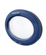Fenêtre ovale à soufflet PVC couleur RAL (horizontal)