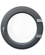 Fenêtre ronde à la française PVC oeil de boeuf en couleur bois au choix