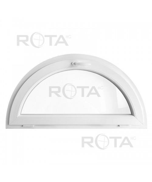 Fenêtre demi lune à soufflet PVC blanc demi-cercle