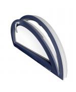 Fenêtre demi lune à soufflet PVC en couleur RAL au choix