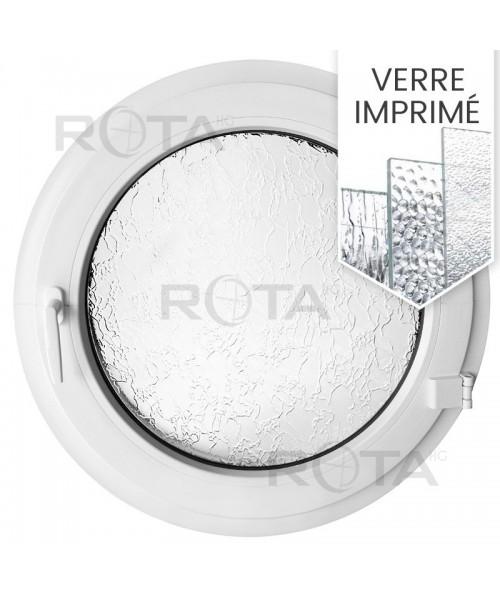 Fenêtre ronde à la française PVC blanc avec verre structuré