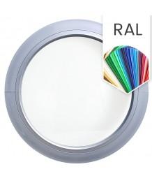 Fenêtre ronde fixe PVC oeil de boeuf en couleur RAL au choix