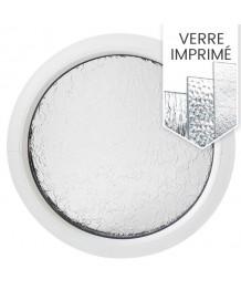 Fenêtre ronde fixe PVC oeil de boeuf avec verre structuré