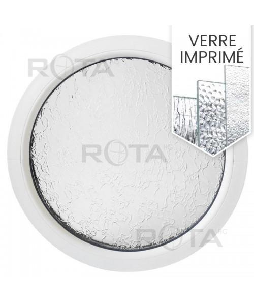 Fenêtre ronde fixe PVC avec verre structuré