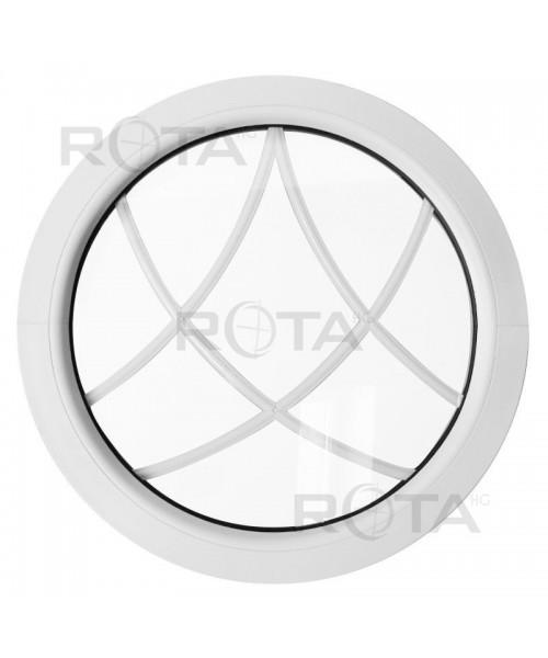 Fenêtre ronde fixe PVC avec croisillons incorporés décoratifs