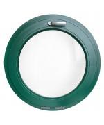 Fenêtre ronde à soufflet PVC oeil de boeuf en couleur RAL