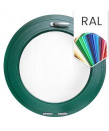 Fenêtre ronde à soufflet PVC en couleur RAL au choix