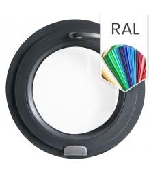 Fenêtre ronde à soufflet en couleur RAL avec charnière Estetic 3D