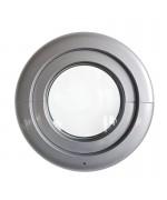 Fenêtre ronde à soufflet RAL 9006 avec Estetic3D charnières
